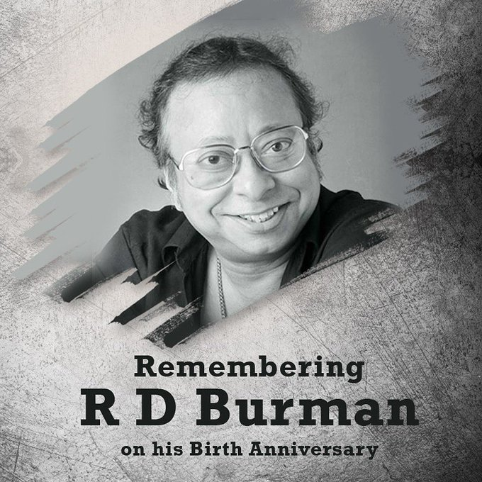 Songs would never be the same without you. Happy birthday R D Burman. You have been an inspiration to many.