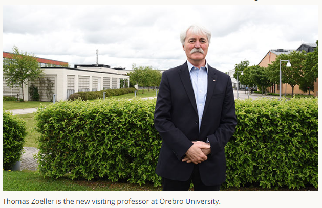 News in English: The US professor is known worldwide for his research. Thomas Zoeller is new visiting professor at Örebro University. https://bit.ly/2RGt7ZB  @orebrouni @UMass