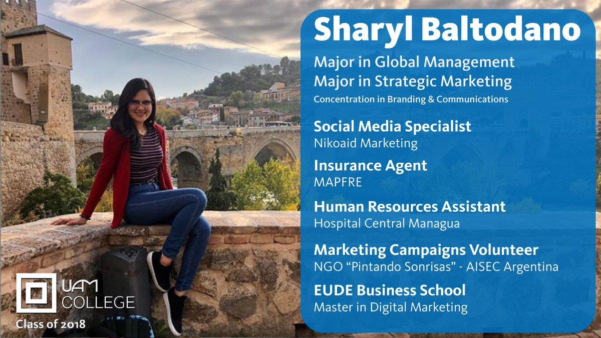 Sharyl Baltodano, Class of 2018  1 of 300+ Transformational Alumni  https://t.co/s8kUj5dAVm https://t.co/0yS2Pvf87T