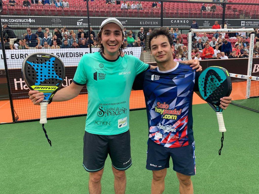 Adrián Blanco y Javi Martínez dan la sorpresa al vencer a los número 1 en los octavos del Swedish Open