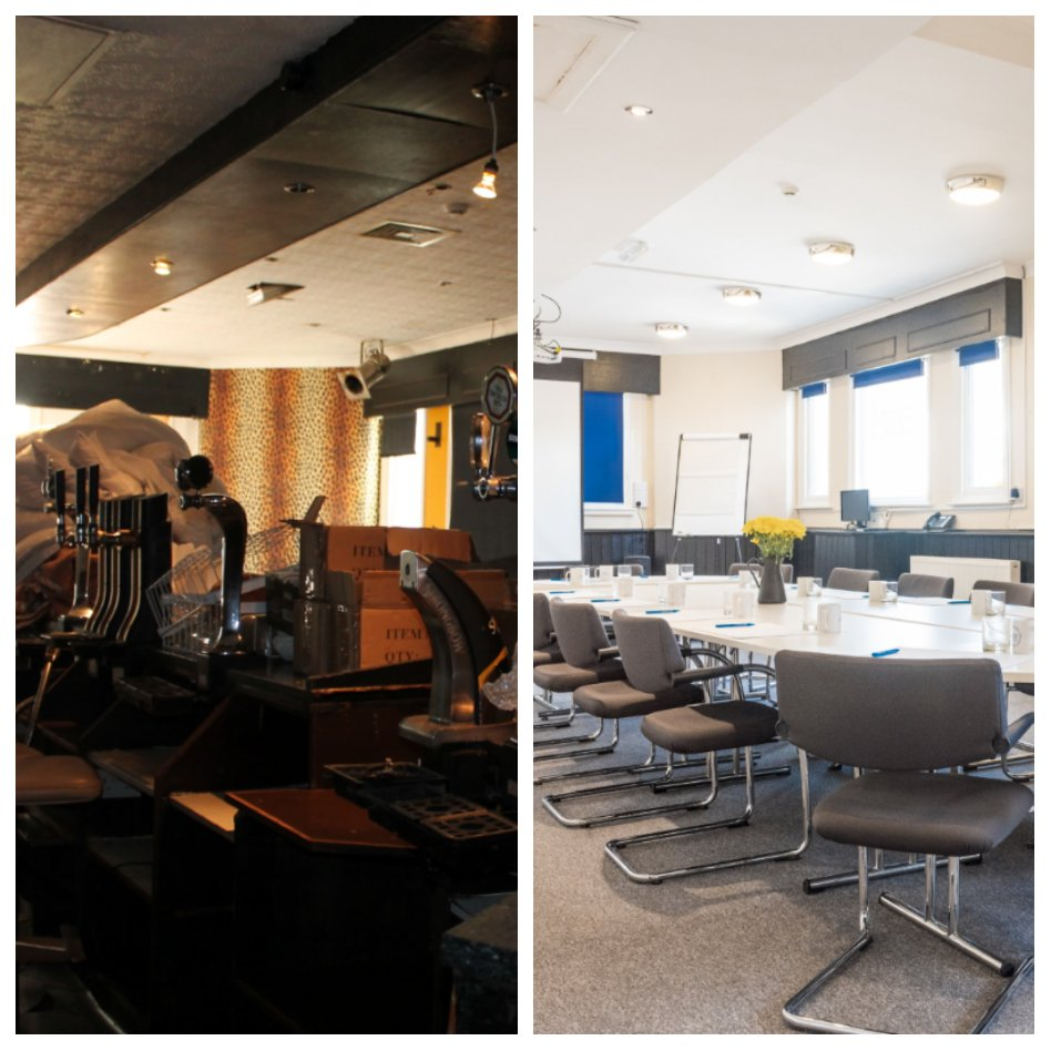 A before and after of our conference space 😱 #ThrowbackThursday #digbeth #SocEnt