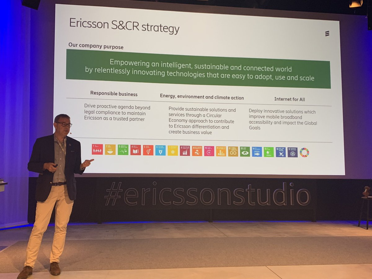 .@ericsson's @matsps talking about .@UN_SDG goals @EricssonStudio #SMEEnvoys ICT energy consumption was flat from 2010-15pic.twitter.com/LY0RSBEUZW