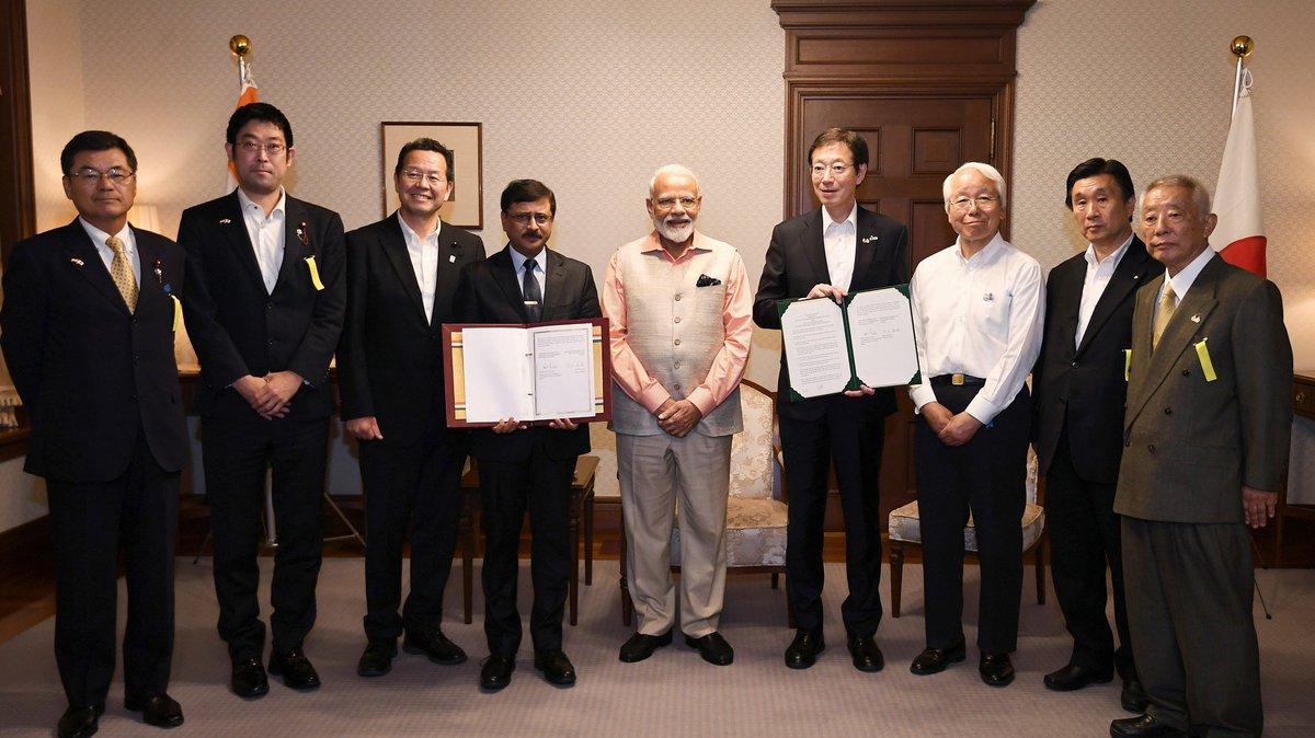 Kobe – Ahmedabad Sister City Partnership MoU signed in Presence of PM Modi