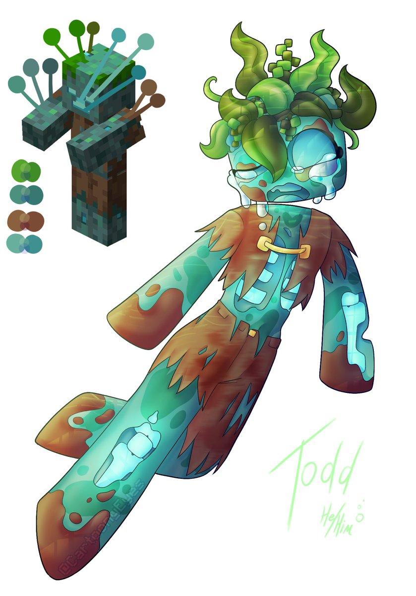 Drowned #drowned #Minecraft #mc #zombie #oc #myart