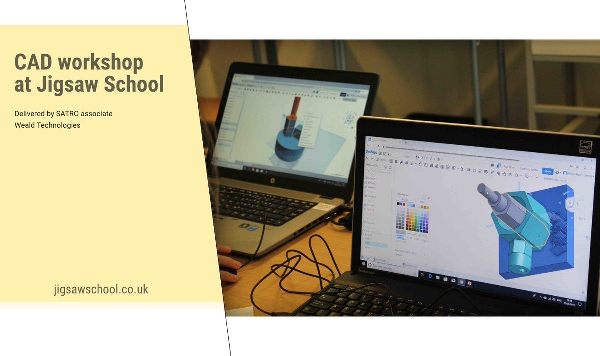Earlier this week, 8 pupils attended a CAD workshop led by SATRO Associate/Weald Technology. Exciting for pupils to learn and try new skills  #TheModernWorld #InspiredByAutism http://wu.to/s5vmaj