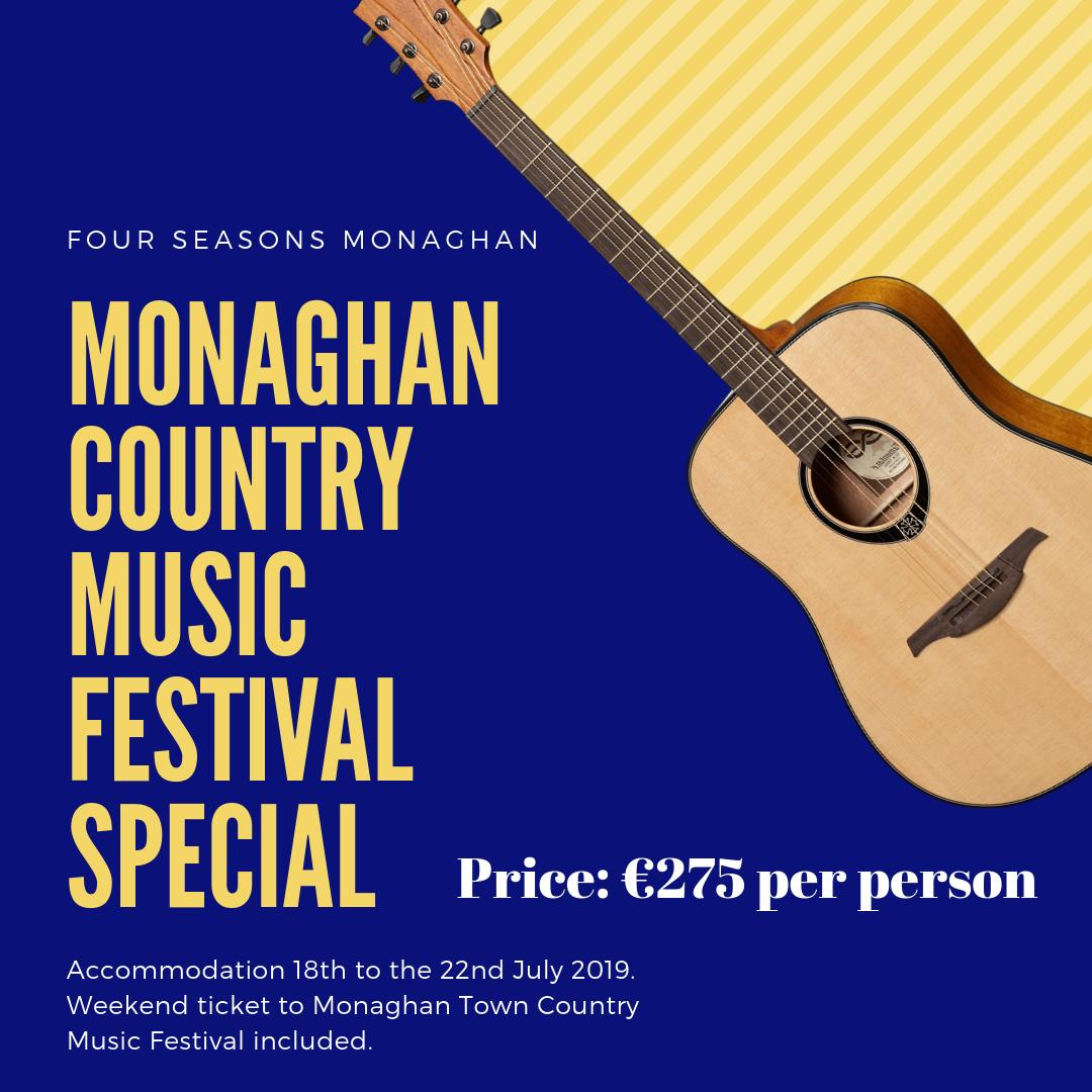Monaghan Town Country Music Festival Special 🎸🎵🎶 4 Night Break for 2 from the 18th to the 22nd July 2019, breakfast each morning & Weekend Ticket to Monaghan Country Music Festival only €275 per person 😍 A festival not to be missed, Book Now by calling us on (047) 81888 ☎️ https://t.co/29p3CZfE5P