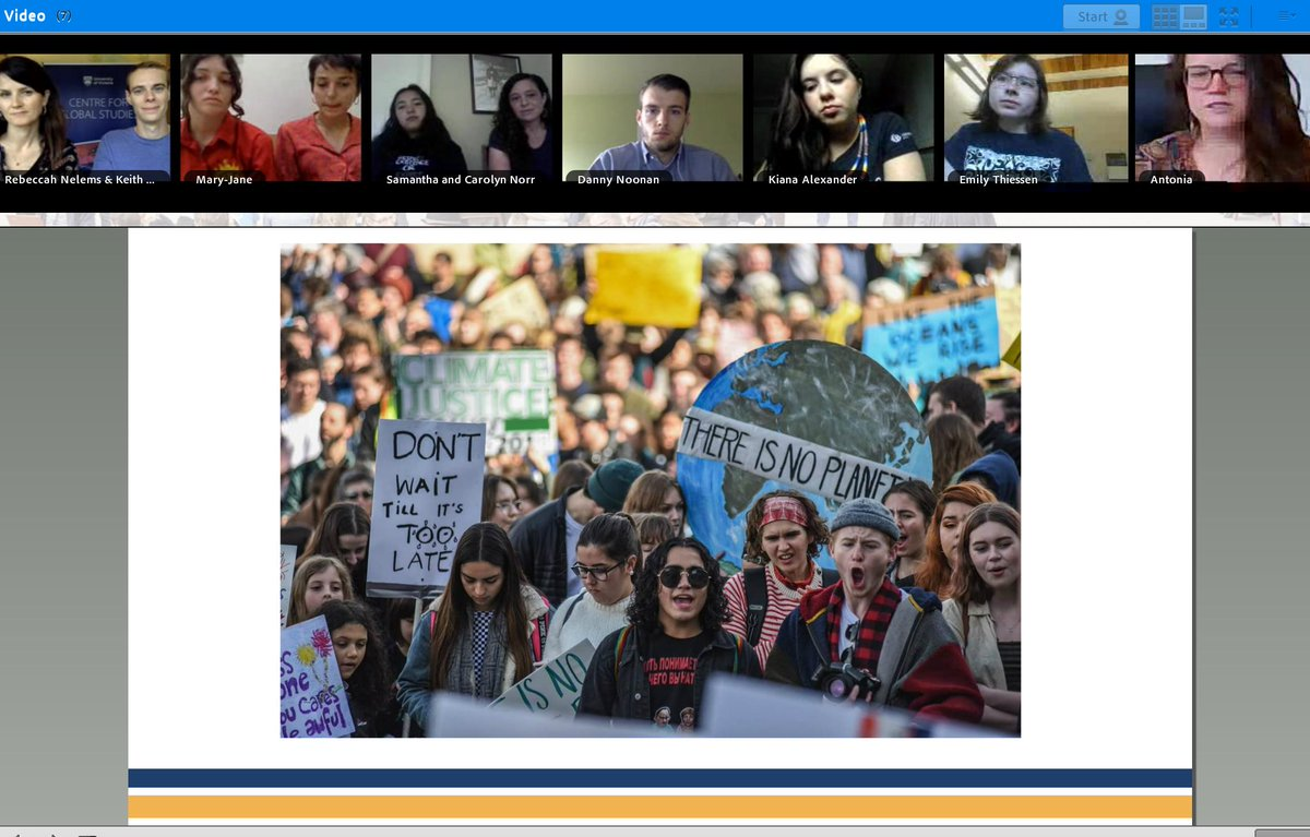 Happening right now: online discussion on Youth Climate Justice Activism - join us :)