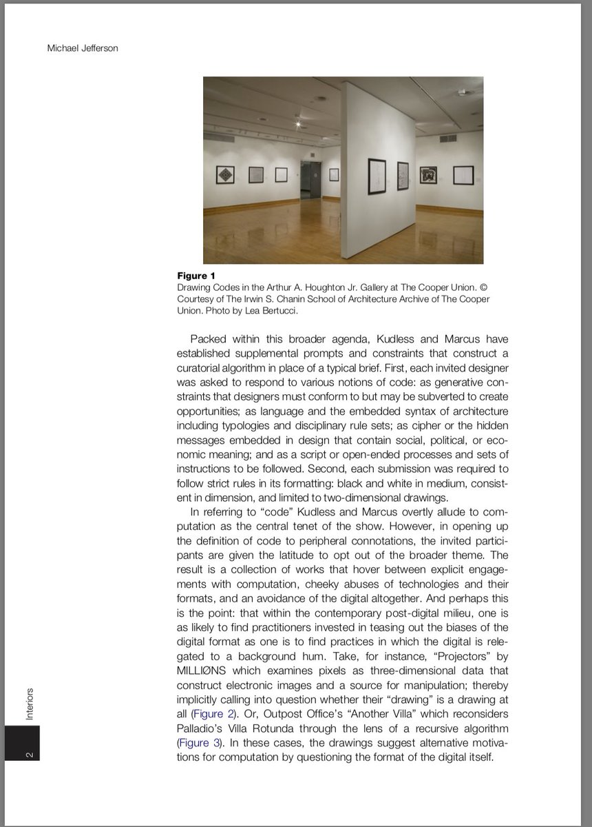 Adam Marcus On Twitter Thanks To Michael Jefferson For The Thoughtful Review Of The Drawingcodes Exhibition In The Journal Interiors Design Architecture Culture Matsysdesign Cacollegeofarts Https T Co V8irc2h3bn