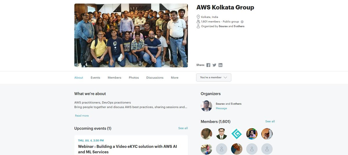 AWS User Group Kolkata (@AWSUGKol) | Twitter