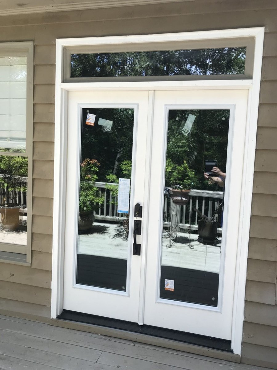 Double Doors And A Transom Window