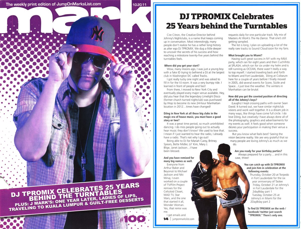 tbt 2011 Cover story around my Bday    fun times #tpromix