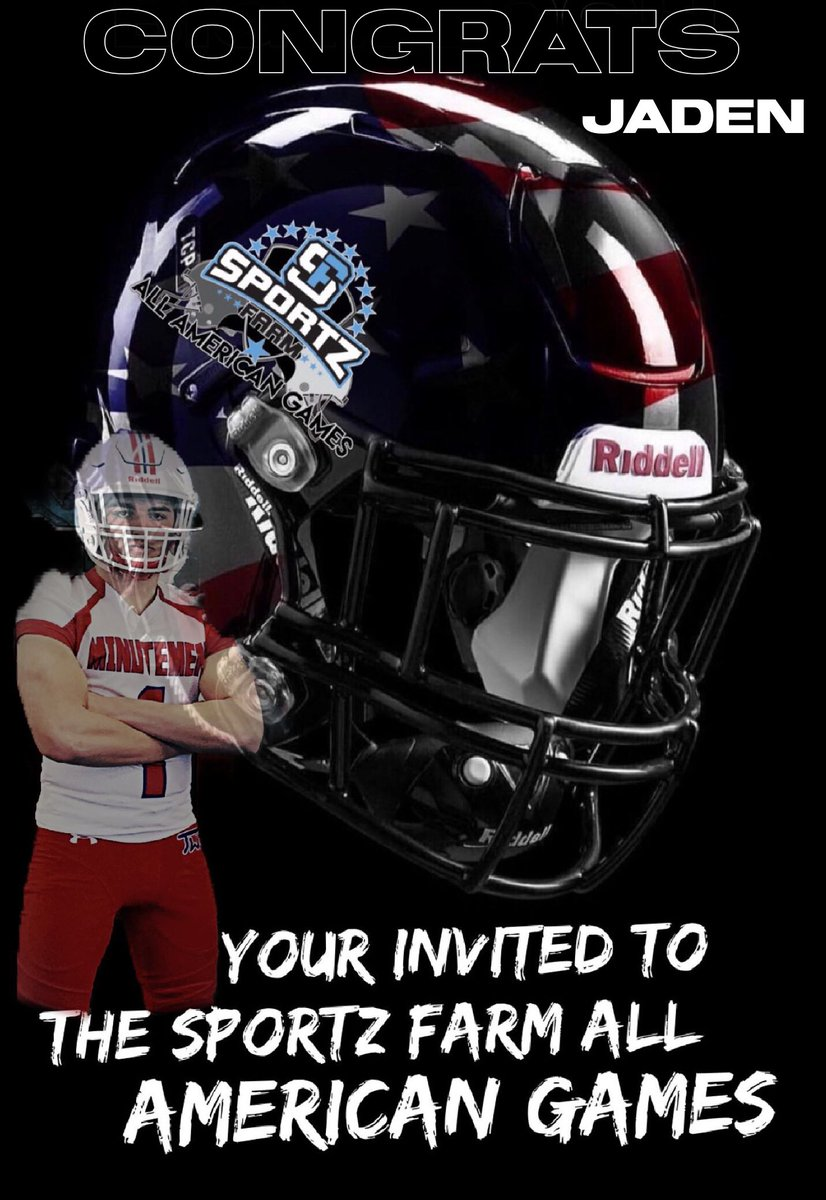 Yessir Every week invites are going out to some of the top athletes in the nation  for the #1 Underclassman game in the country #SportzFarmAllAmericanGames #2k20  #EasterWeekend #AreYouCertified #GotOffers #ComeGetSome #JadenAllen #CO21   http://www. theallamericangames.com     #Certified<br>http://pic.twitter.com/hHBq7TLfoF
