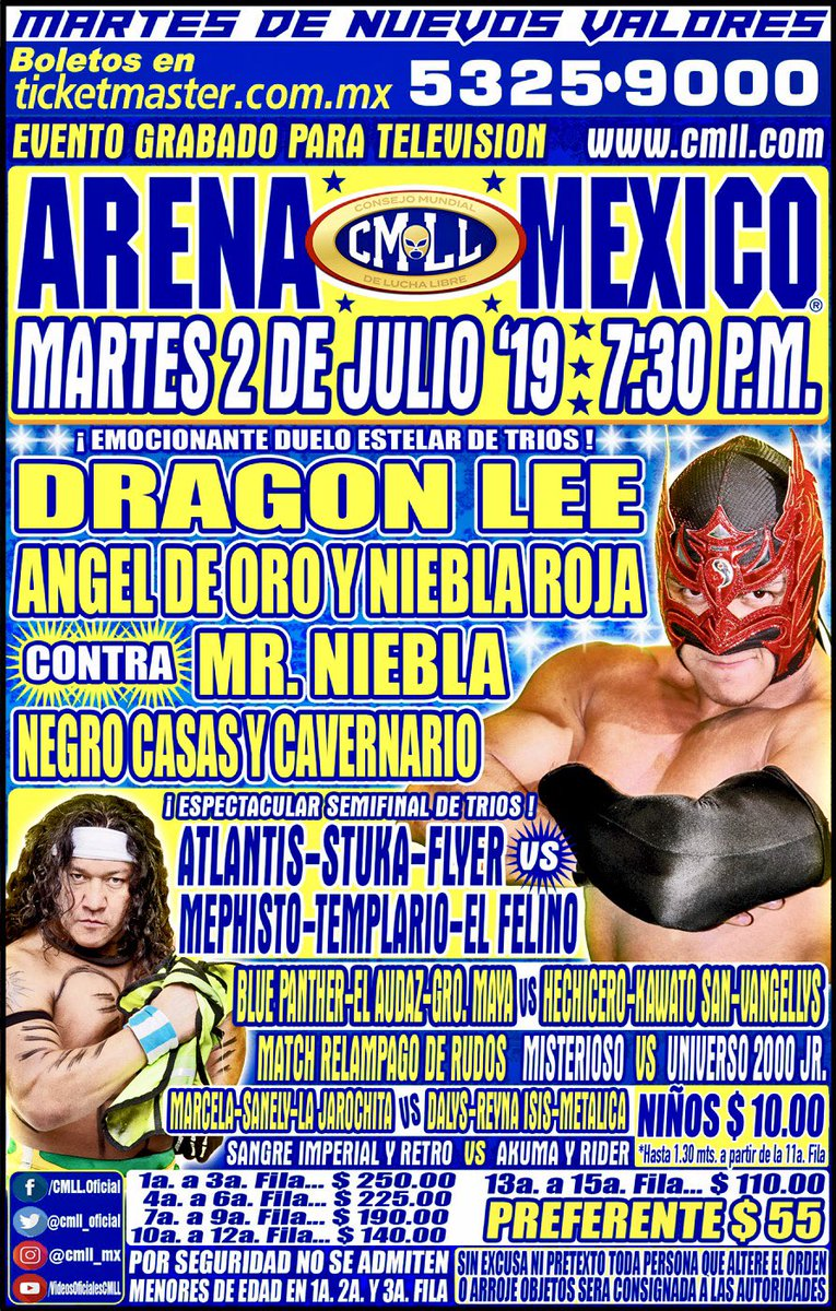 Una mirada semanal al CMLL (Del 20 al 26 junio de 2019) 24