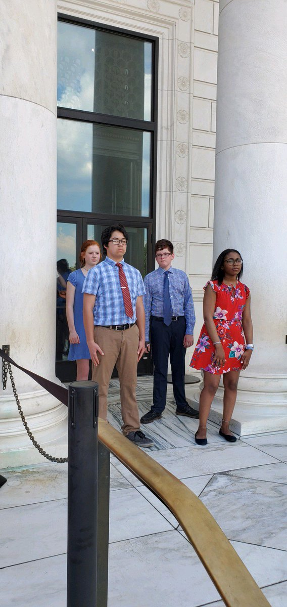 Jamyiah Mitchell, Josiah Cottrill, Maeve Steckley, and Aidan Hanford are our Dake representatives laying a wreath at the Tomb of the Unknown Soldier in Arlington National Cemetery. @WestIrondequoit #DakeProud #8thGradeTrip <br>http://pic.twitter.com/aALpUCOTuY