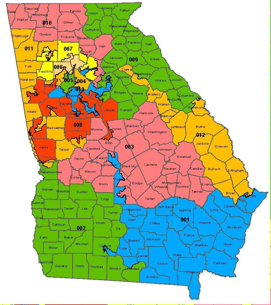 Map Of Georgia Voting Districts.Erick Erickson On Twitter Note On The First Map Of Congressional