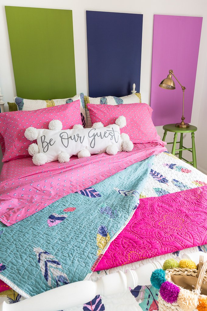 Ozblinds On Twitter Colorful Guest Bedroom Makeover On A Budget Https T Co Kqqmz0xlxk Style Bedroom Decorating Ideas