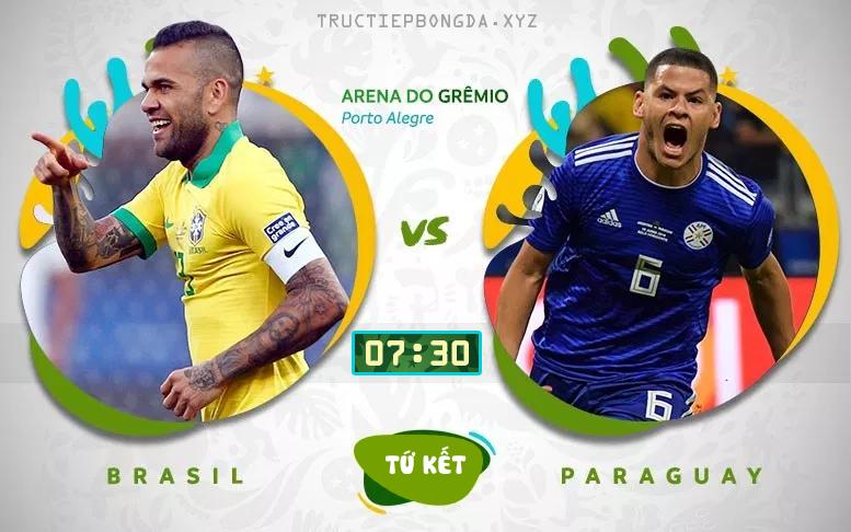Xem lại Brazil vs Paraguay, 7h30 ngày 28/6, tứ kết Copa America 2019