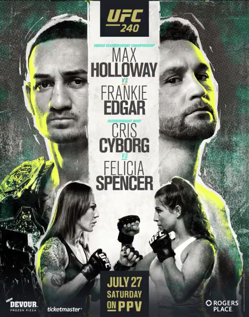 UFC 240 Max Holloway vs Frankie Edgar poster
