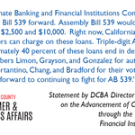 Image for the Tweet beginning: #AB539 #StopTheDebtTrap