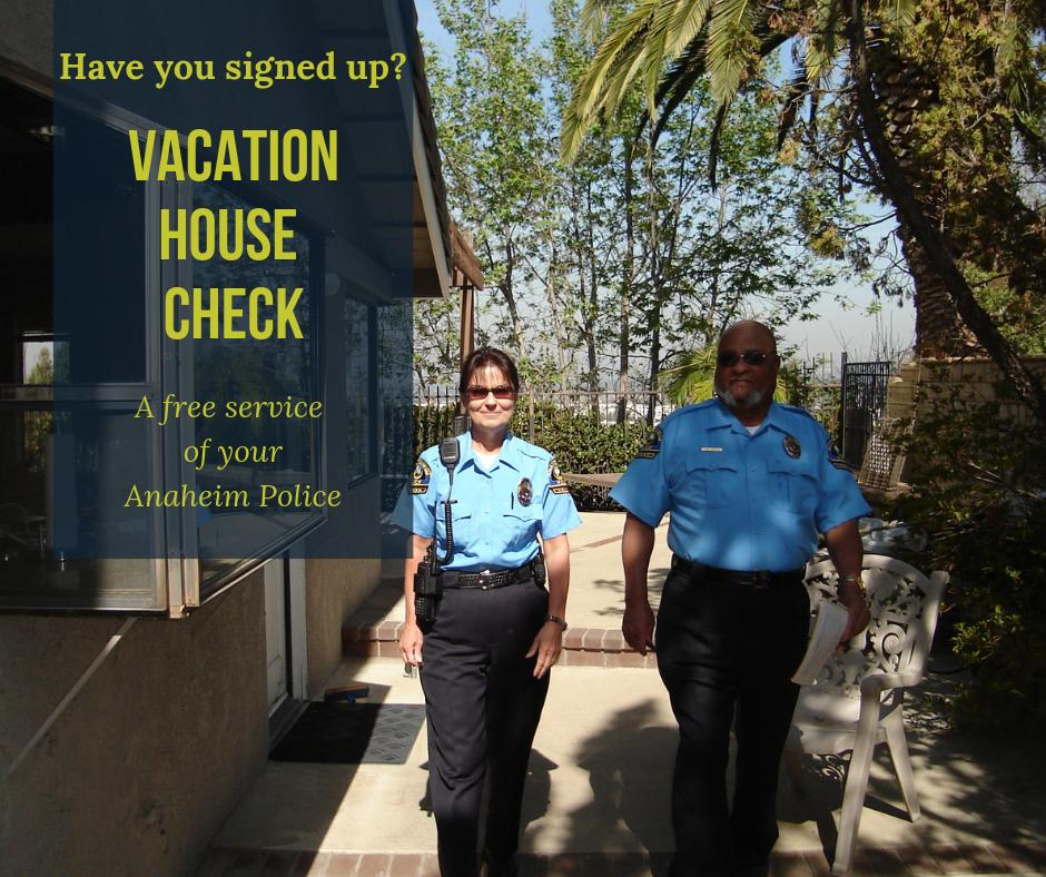 Are you familiar with our VACATION HOUSE CHECK program? A thorough inspection of your property will be conducted by trained volunteers while you are away. #NationalSafetyMonth #community  To utilize this FREE service visit  https:// goo.gl/HkmFGs     or call 714-765-1987<br>http://pic.twitter.com/qjD9lEnwm9
