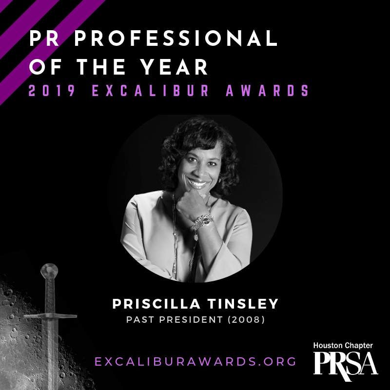 Congratulations to our PR Professional of the Year: @UHValentiSchool's Priscilla Thorne Tinsley!  #GiantLeapsInPR