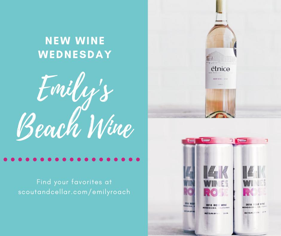 So excited for the newest arrivals at #ScoutandCellar Rosé in cans just right for the beach, w/o any added sugar and junk. #drywines #paleowine #https://scoutandcellar.com/productdetail/201814KRose?u=emilyroach