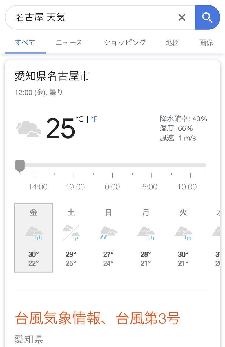 今日から名古屋だけど天気が、、、  なんなら台風もいるみたいだし笑