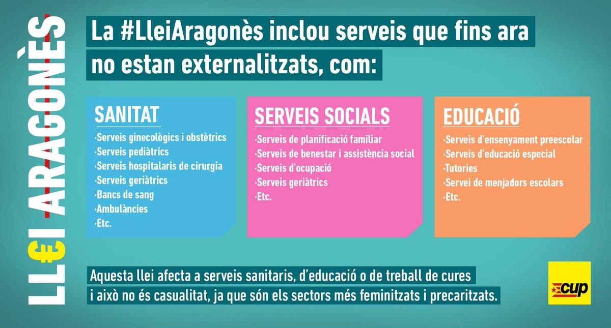 La #LleiAragonès inclou serveis que fins ara no estan externalitzats, com:  ➡️ Sanitat ➡️ Serveis Socials ➡️ Educació  @perearagones molta gent necessita dels serveis públics. Us ho penseu?