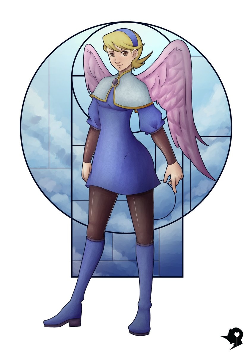 Nina from Breath of Fire IV. My #1stVideoGameCrush, lol.  Could we please get Breath of Fire VII @CapcomUSA_? No need to be flashy. :'3  @BreathofFire_ #breathoffire #videogame #capcom #WINGS #character #Angel #DigitalArtist #digitaldrawing #illustration #ArtistOnTwitter #Artist<br>http://pic.twitter.com/0cZG2LkrZu