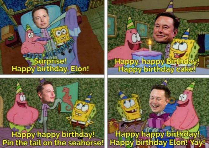 Happy 48th birthday Elon Musk!