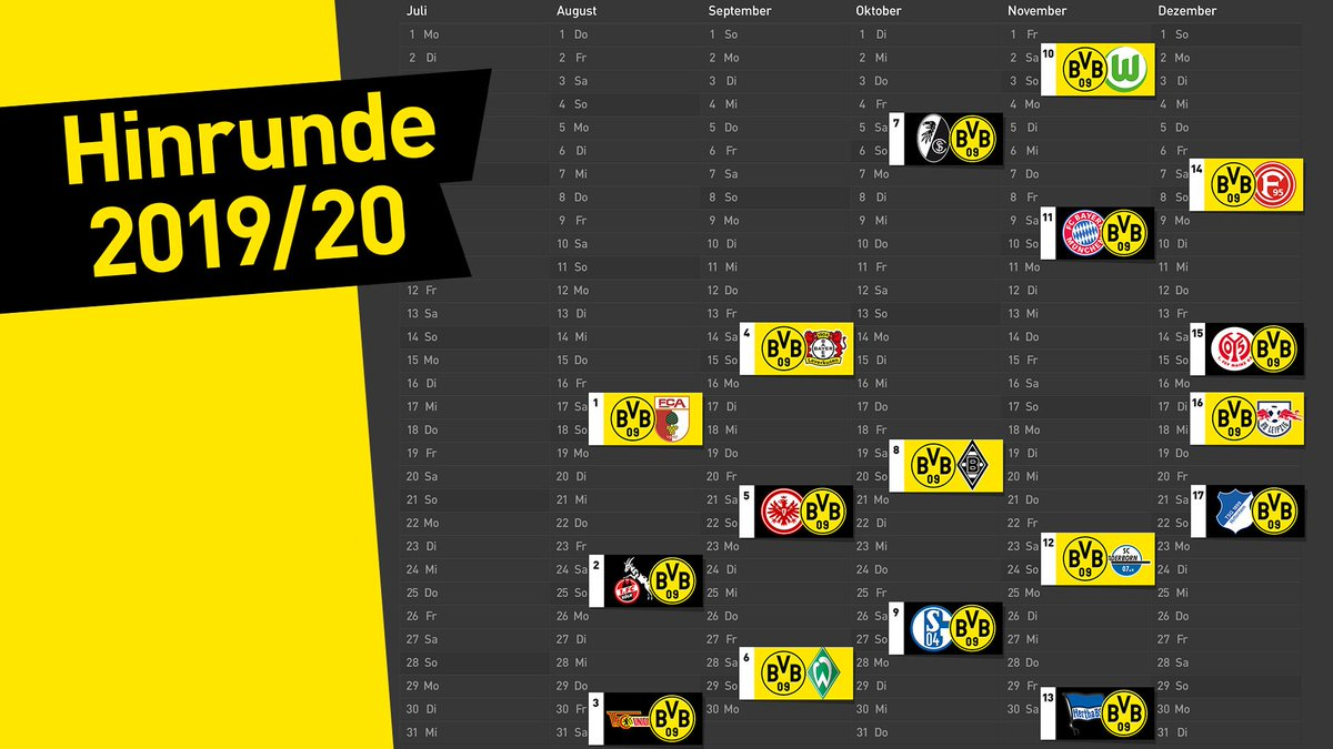 Spielplan Bundesliga Dortmund