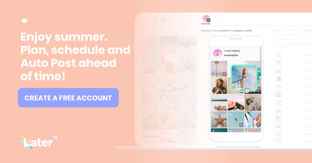 Later Social Media Scheduler On Twitter Plan Your Instagram Feed Manage All Your Photos Videos Track Your Growth And Automatically Schedule Posts All In One Place Create A Free
