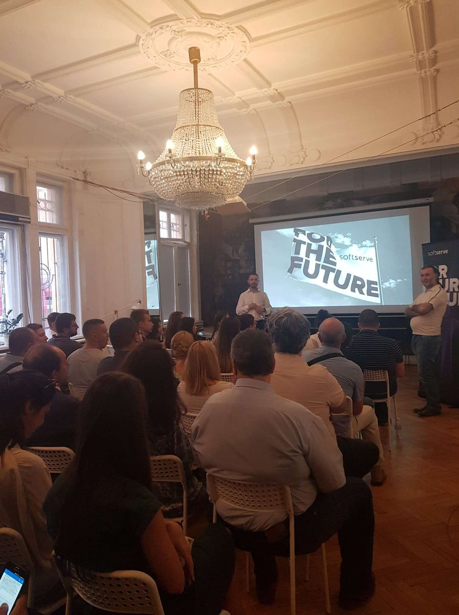 Good day, everyone!  Sharing pictures from the @PMIBulgariaChapter event, which took place yesterday in Sofia. Tony Rumtchovski's presentation grabbed the attention, and there were a lot of questions from the audience!  #SoftServe #SoftServe_Personalities #SoftServe_Speaker #PM https://t.co/qeJQACpKdL