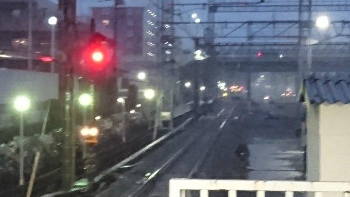 西武池袋線の小手指駅~狭山ヶ丘駅間で落雷があった現場の画像