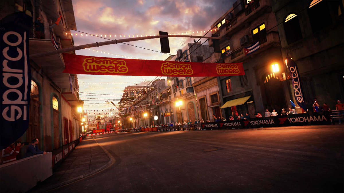 Welcome to Havana. Capital city of Cuba, and one of the brand new circuits coming to GRID this September. 🌎  Home of twisty streets, roaring crowds, and even the odd crashing wave from the Gulf of Mexico...  Ready to race through the Havana nights? 🏁
