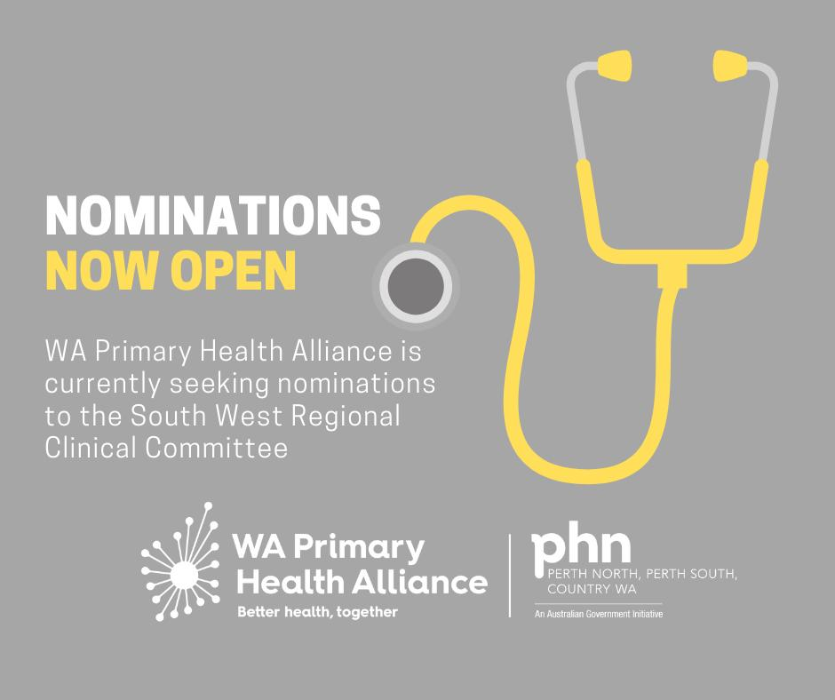 We're seeking nominations for our South West Regional Clinical Committee for a Clinical Sector Representative – Alcohol and Other Drugs. Can you see yourself helping others? If so, click the link to find out more https://bit.ly/2IQA5IA