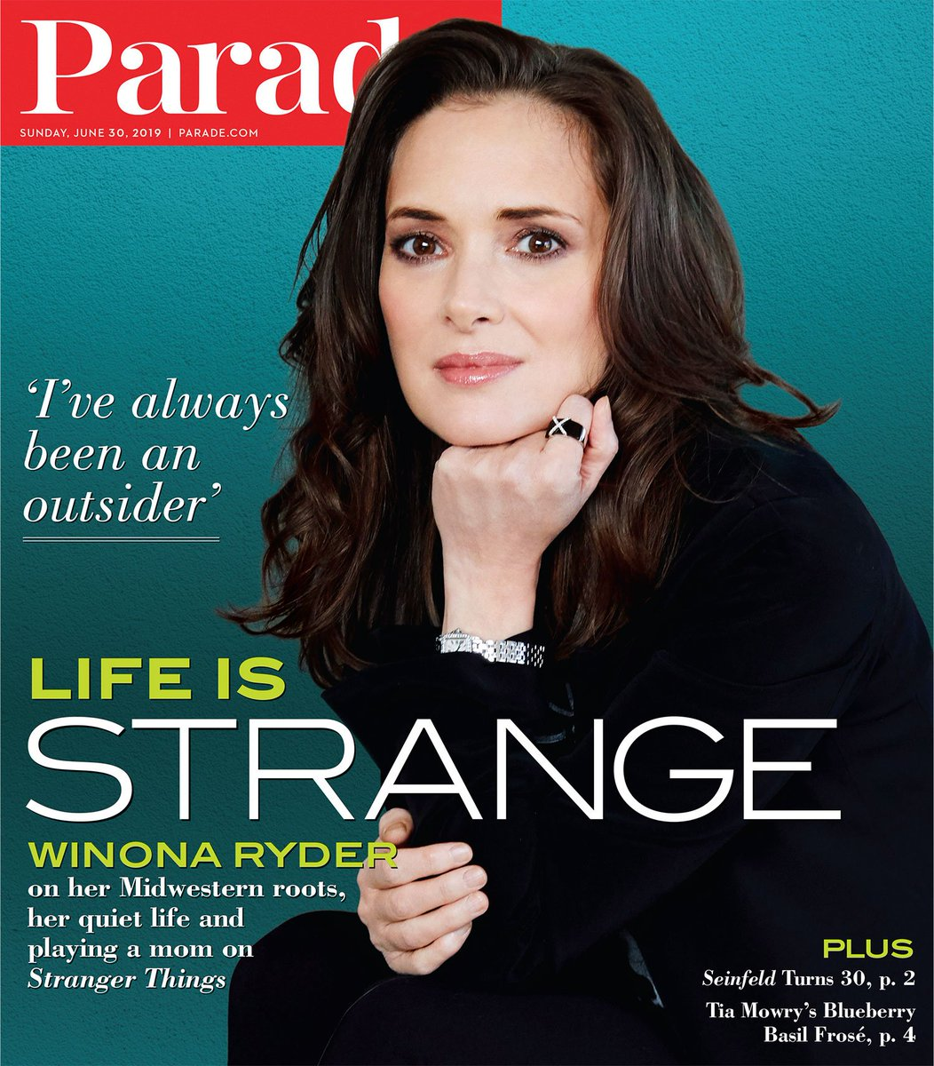 Image result for winona ryder magazine cover 2019