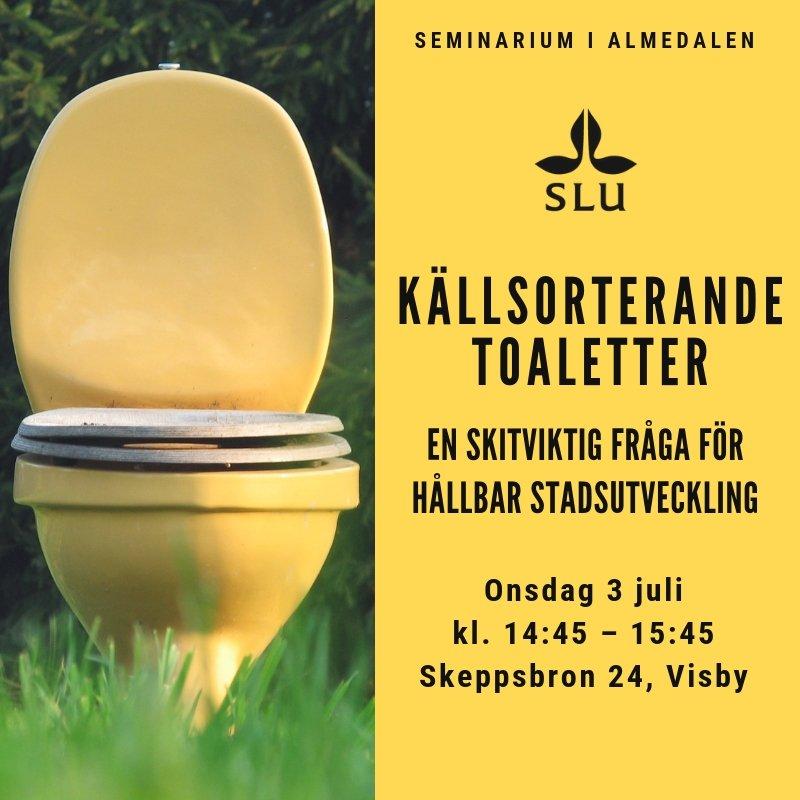 Ses vi imorgon? Kom och snacka skit med oss och våra paneldeltagare på vårt seminarium om framtidens #källsortering och #avlopp på Skeppsbron 24. #Almedalen2019  Läs mer och hitta till oss: https://bit.ly/2Xf2AZD  Eller häng med oss på distans på slu.sweden på Facebook.
