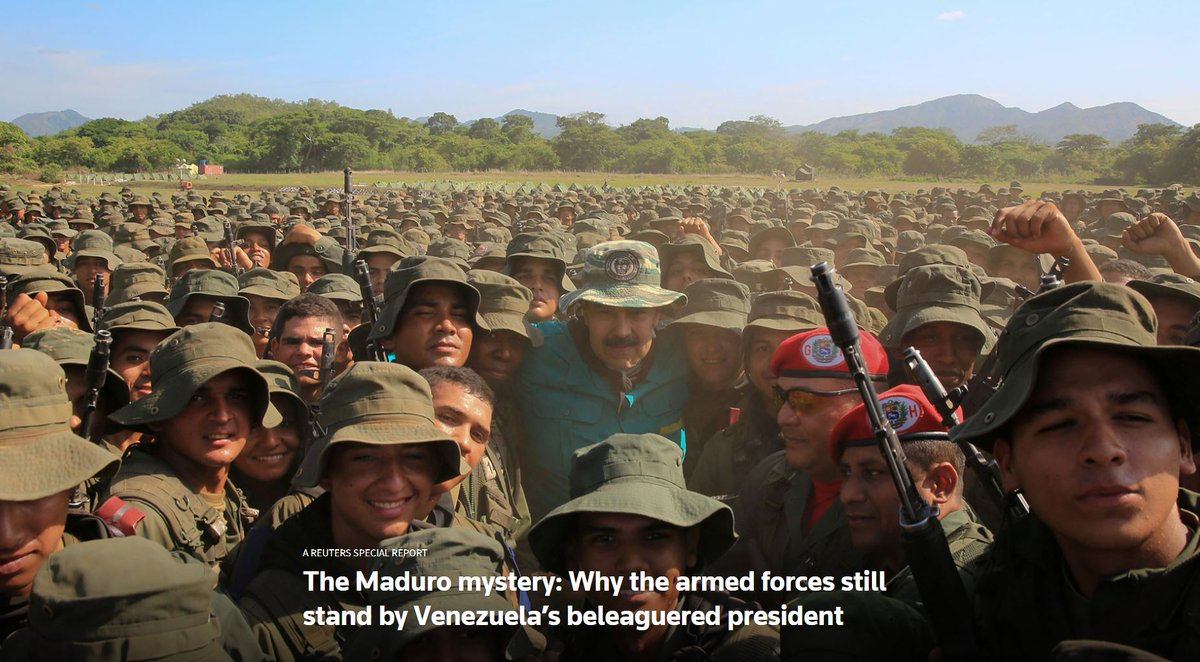 SPECIAL REPORT: The Maduro mystery: Why the armed forces still stand by Venezuela's beleaguered president https://reut.rs/2IWfO4B