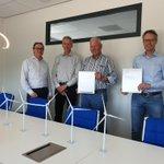 Image for the Tweet beginning: Vandaag tekende Windpark Groetpolder het