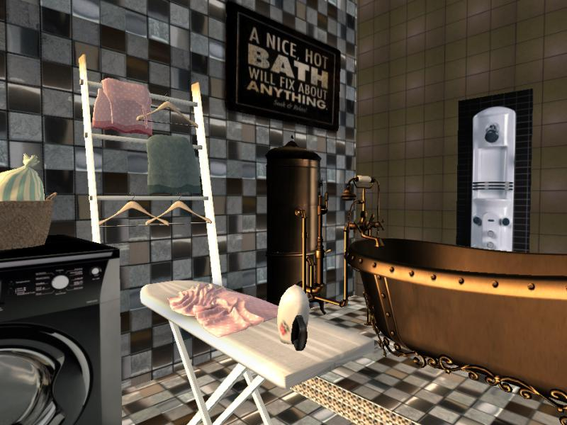 #Design Awesome of the Day: #Steampunk ⚙️ Bathroom and Heating System in #SecondLife via @kembelee #SamaGames 🕹️ #SamaGeek 🤓