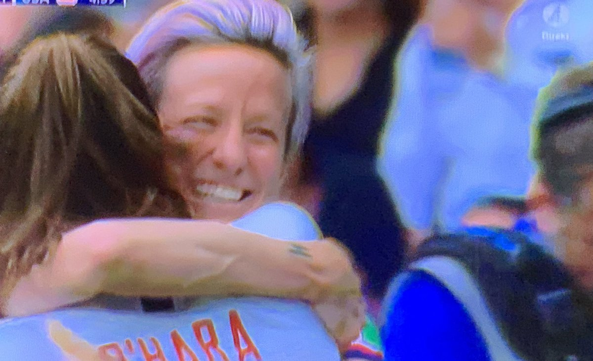 Go @mPinoe Excellent player! Excellent start! And love your courage and values! 👩‍🎤💥 #USAvFRA