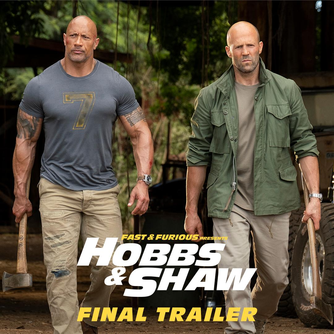 Oh, hell yeah. Get your tickets for @FastFurious Presents: @HobbsAndShaw. Watch the final trailer now. http://fandango.com/HobbsAndShaw #HobbsAndShaw