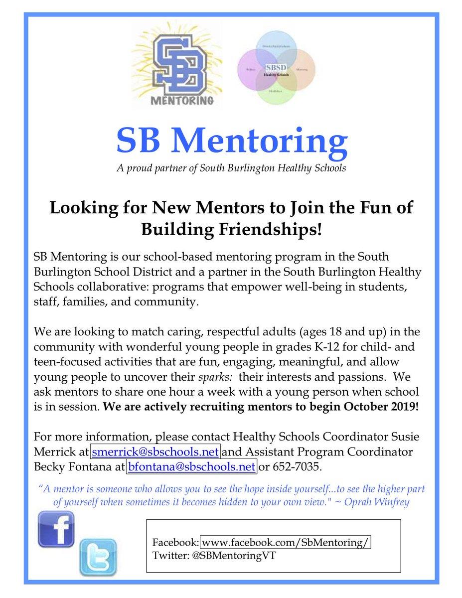 SB Mentoring (@SBMentoringVT) | Twitter