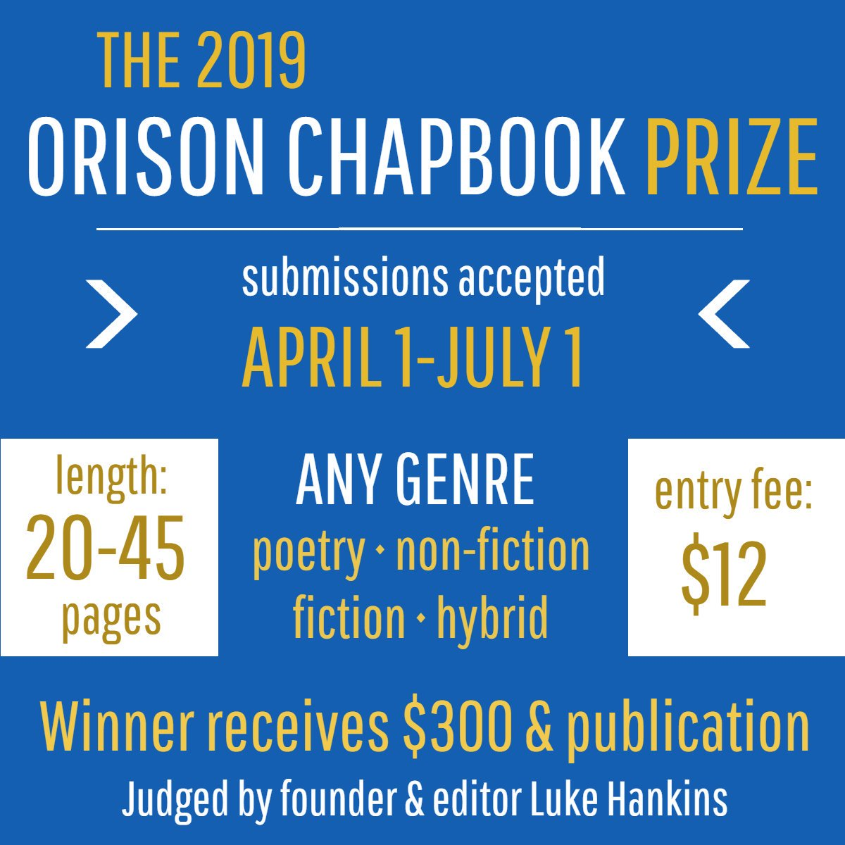 3f343ccd34f ... win $300 and publication for poetry, fiction, nonfiction, or hybrid  work (20-45 pages) | orisonbooks.submittable.com/submit/132839/…