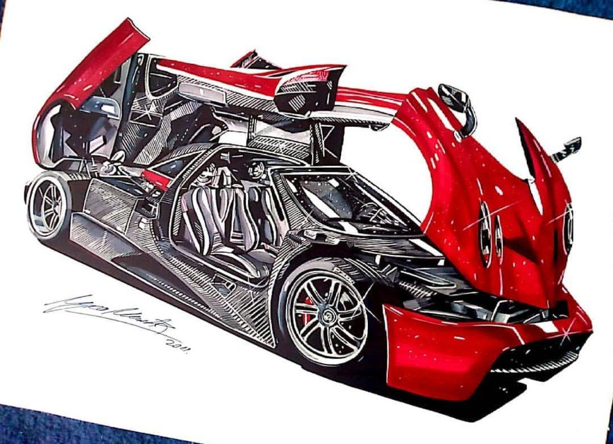 Draw To Drive On Twitter By Luka Milic Drawtodrive Pagani
