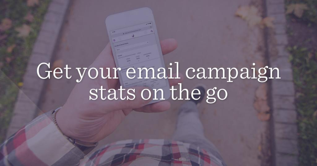 Gain #emailmarketing insights on the go with stats available right from your smartphone. Here's how: https://t.co/nfJ92tjWFp https://t.co/wCZj90TgDp