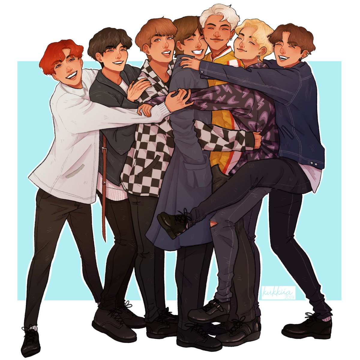 What a relief, that we are seven What a relief, that we are together #6YearsWithOurHomeBTS   #btsfanart #BTS #OT7<br>http://pic.twitter.com/01Sf4apBqt