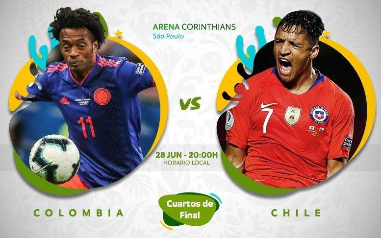 Xem lại trận Colombia vs Chile