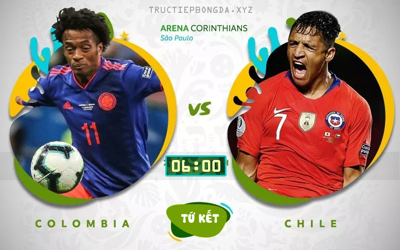 Xem lại: Colombia vs Chile